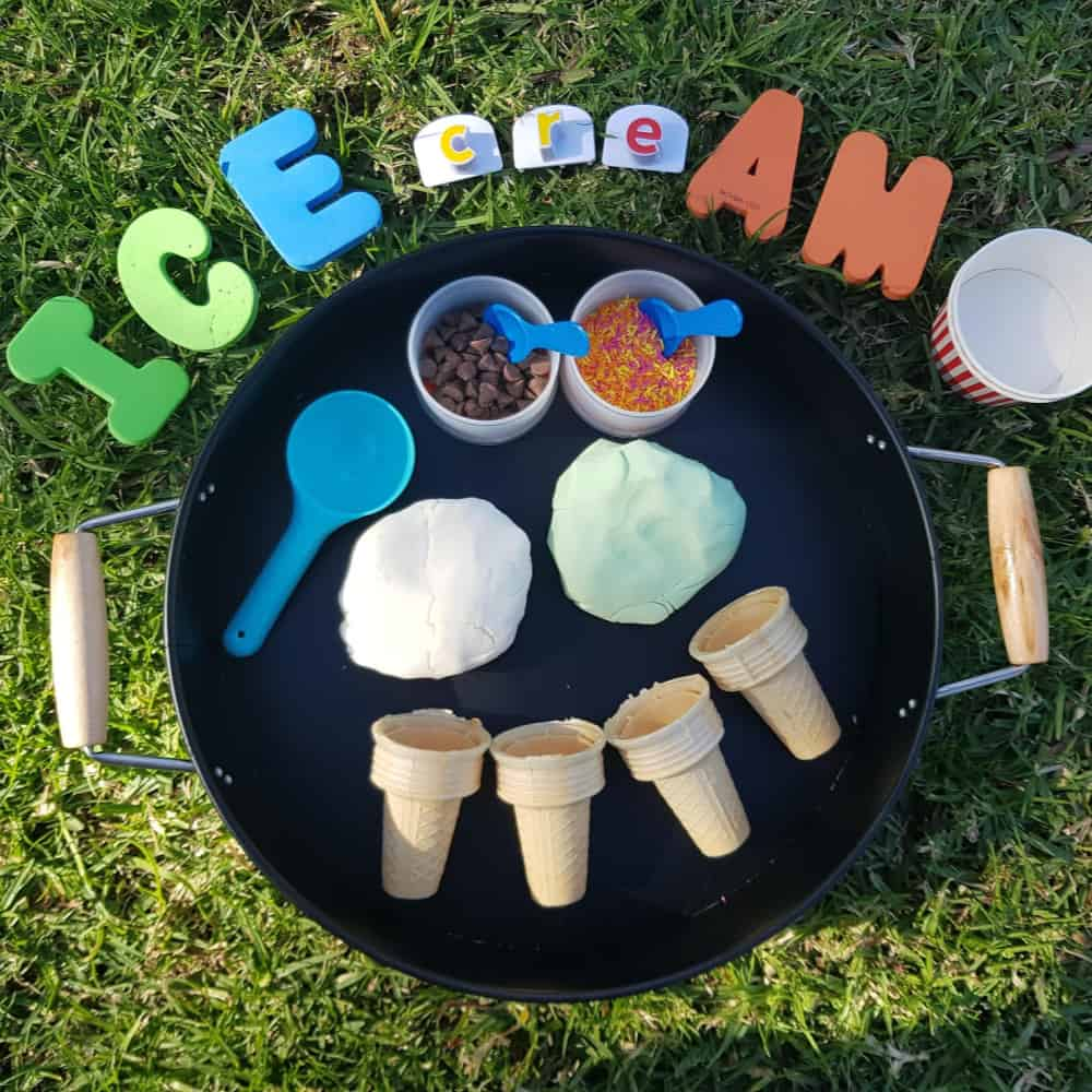 Edible Ice Cream Dough Sensory Play
