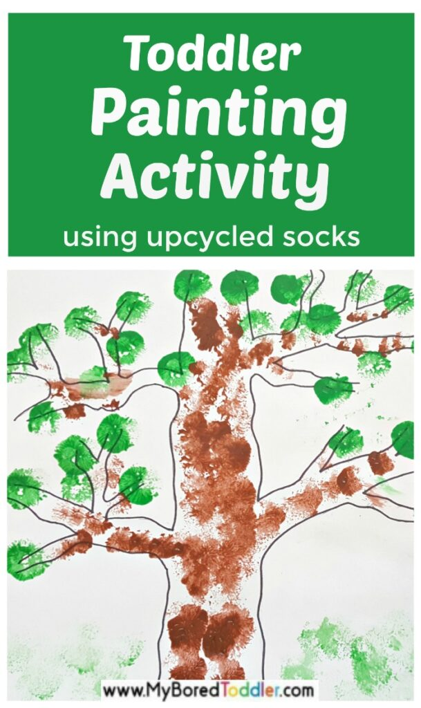 Toddler Painting Activity with Upcycled Socks