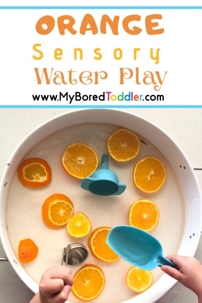 Orange Sensory Water Play