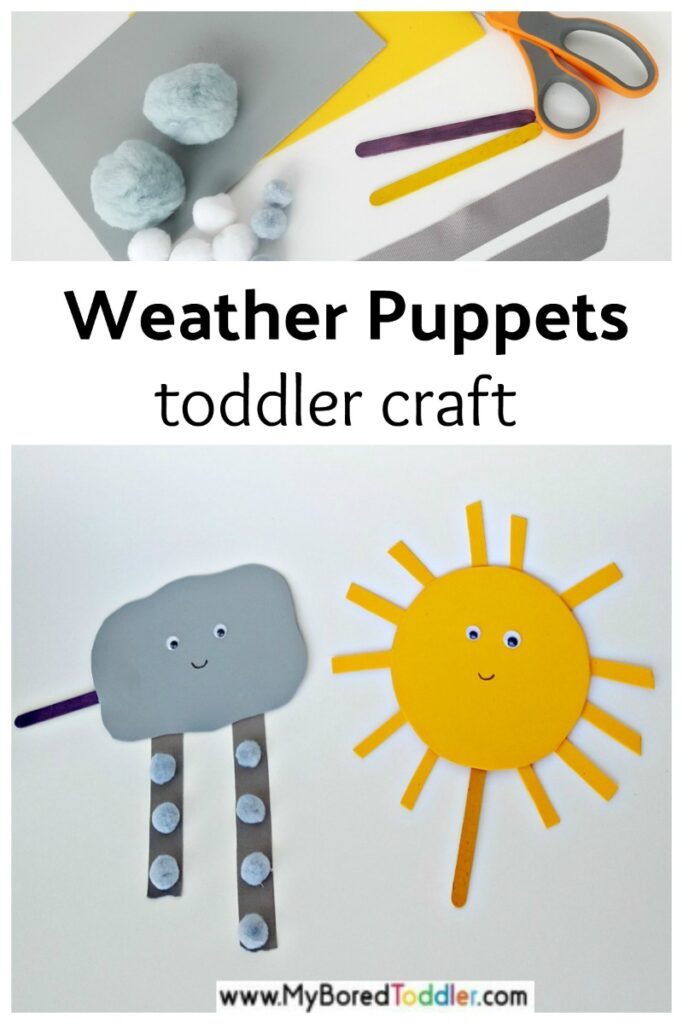 Weather Puppets for Toddler Pretend Play