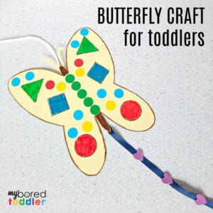 butterfly kite craft for toddlers to make