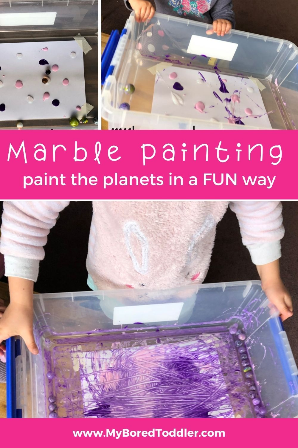 Marble painting for toddlers paint the planets