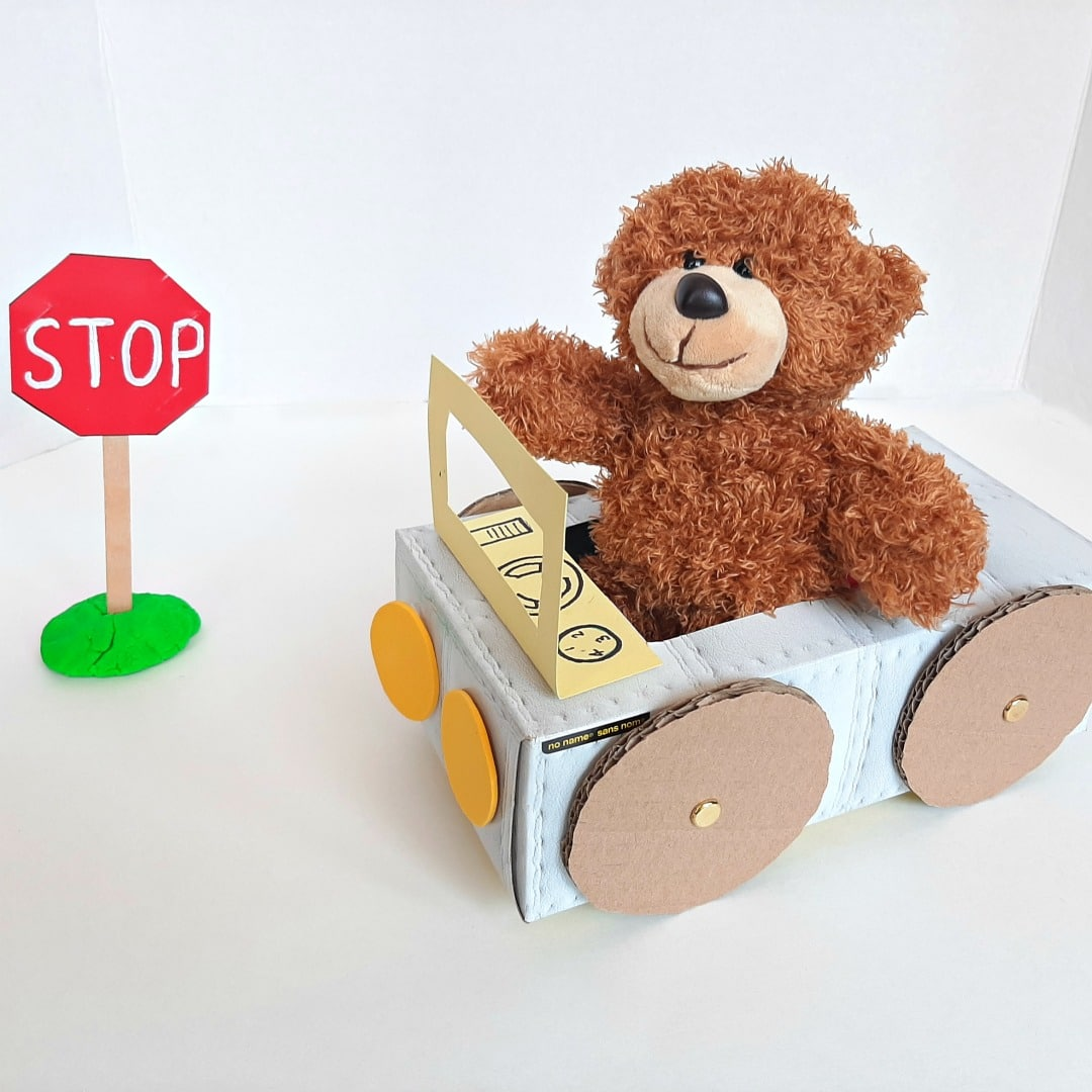 Tissue Box Car Toddler Craft