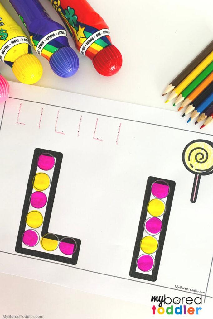 alphabet do a dot free printable