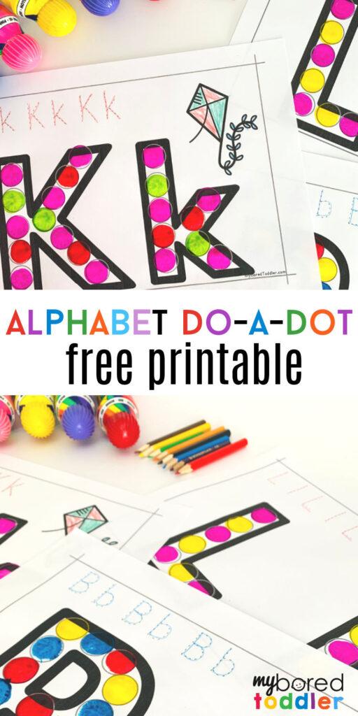 alphabet do a dot free printable pinterest