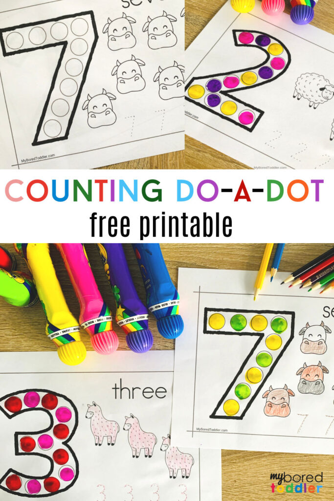 counting do-a-dot free printable