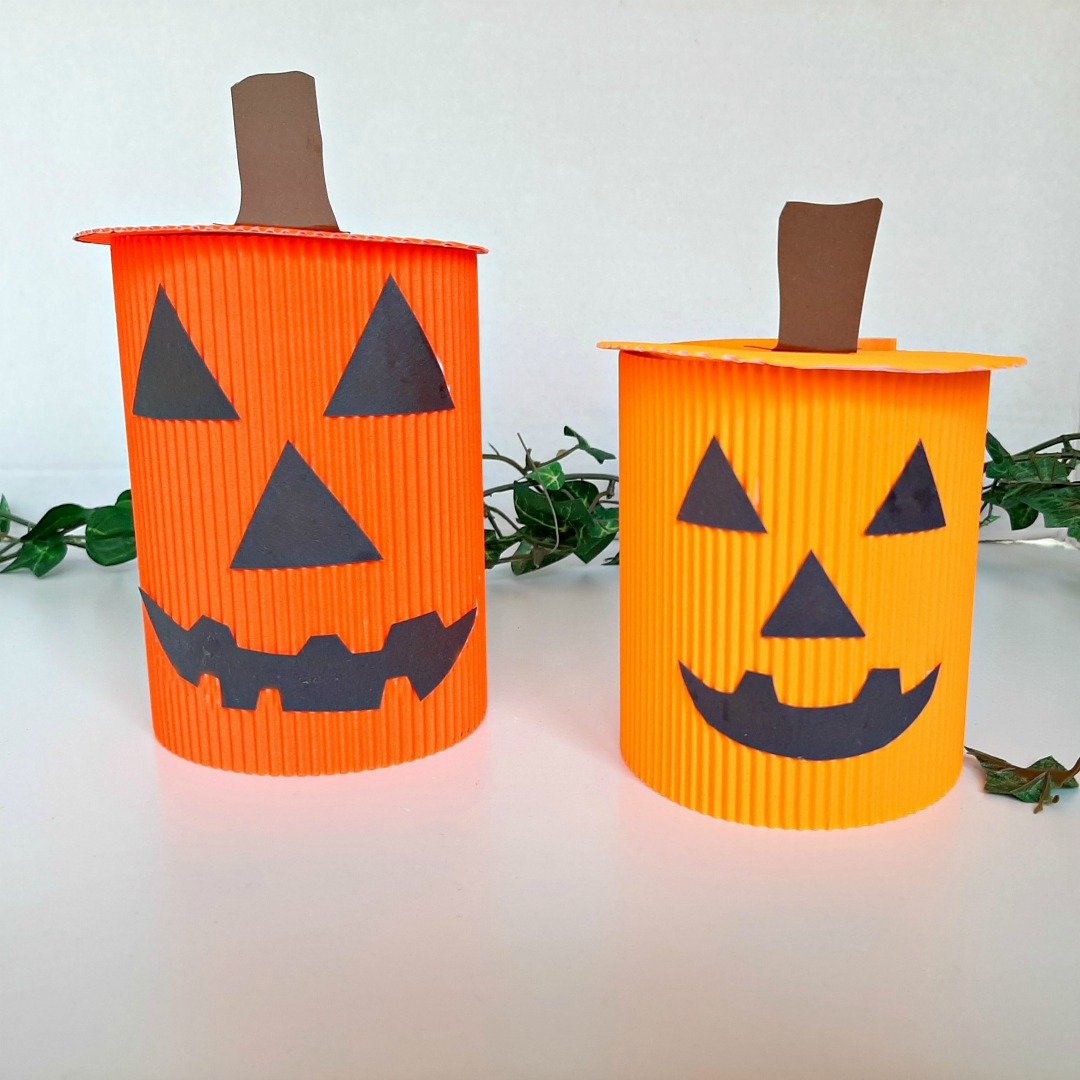 Cardboard Jack-O'-Lantern Craft for Toddlers