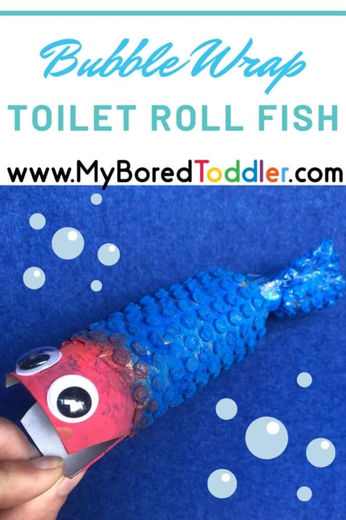 Bubble Wrap Toilet Roll Fish