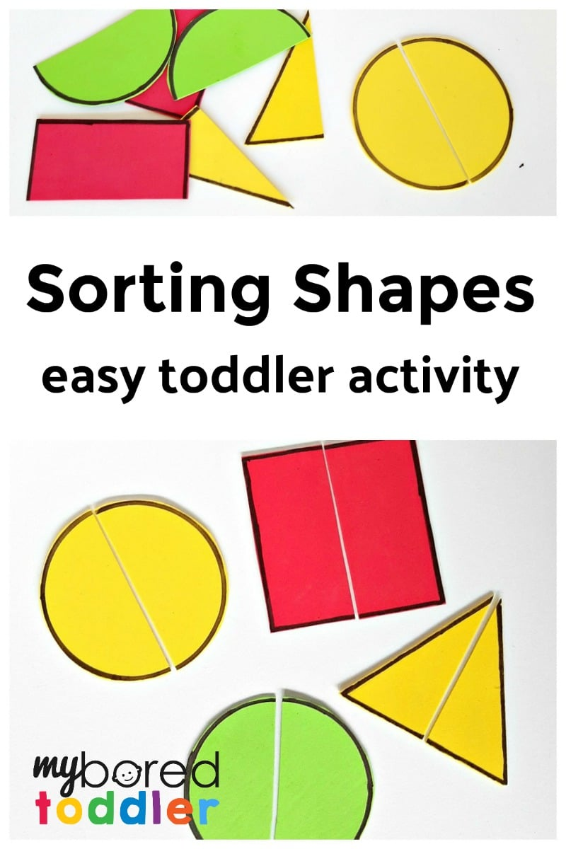 Toddler Math Activity with Foam Shapes