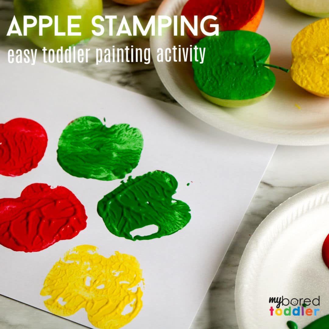 Apple Stamping for Toddlers