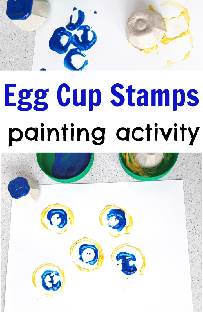 Egg Cup Stamps Painting Activity