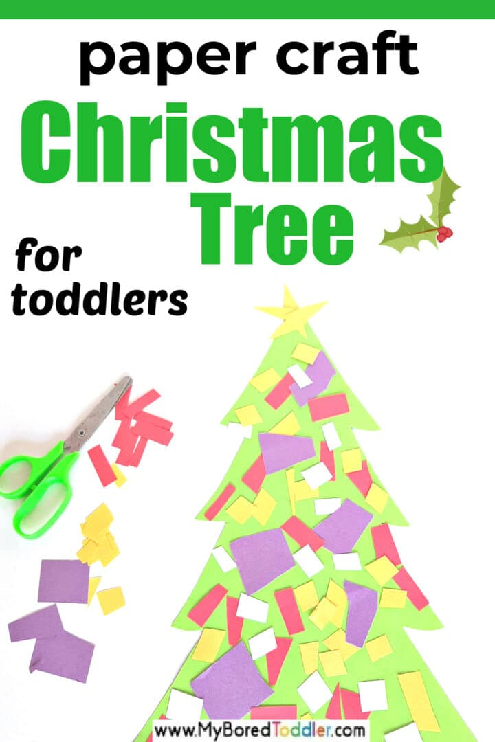 Christmas Tree Paper Craft for Toddlers