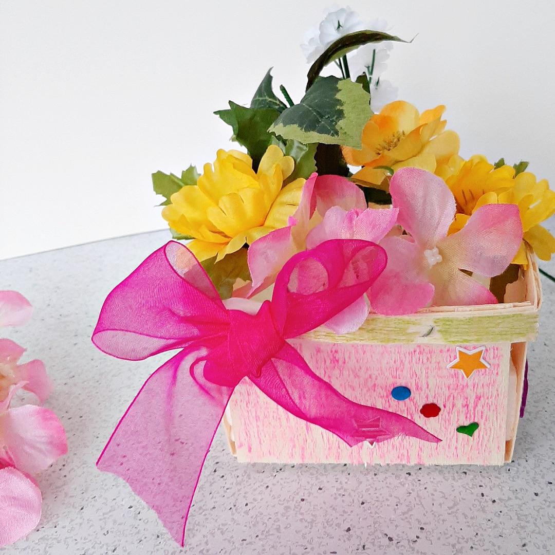 Flower Basket Craft for Toddlers