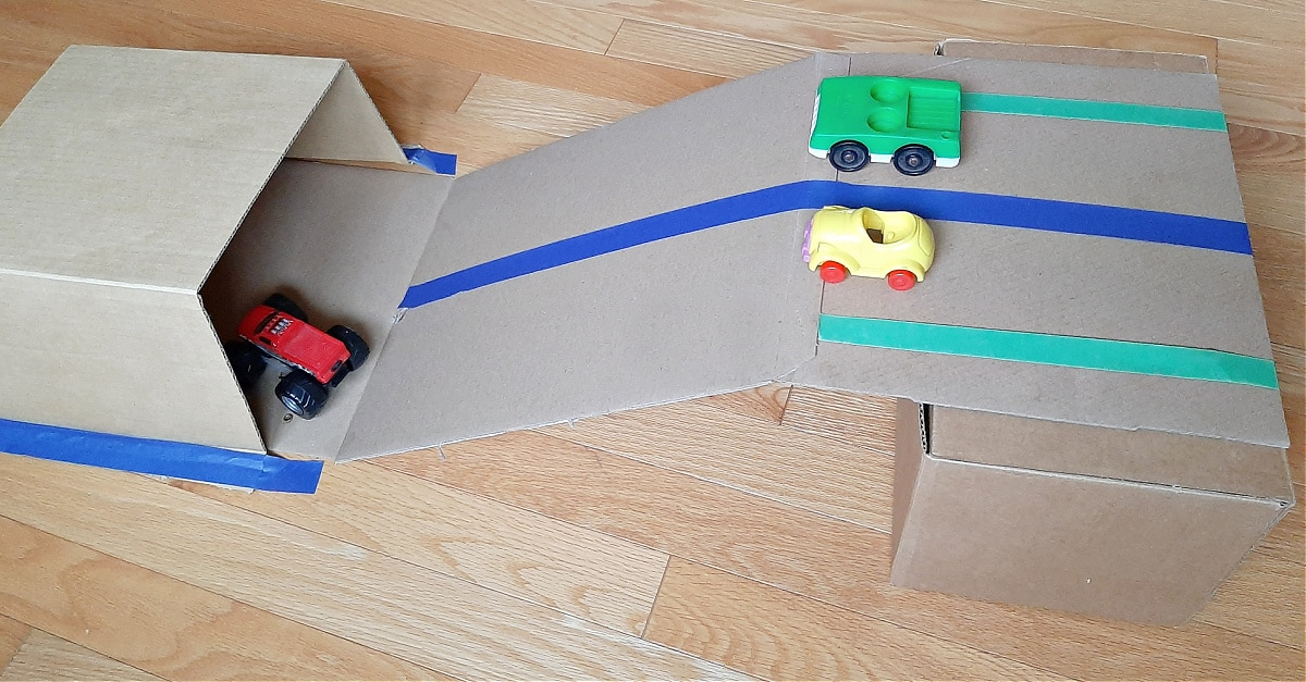 Tunnels and Ramps with Toy Cars