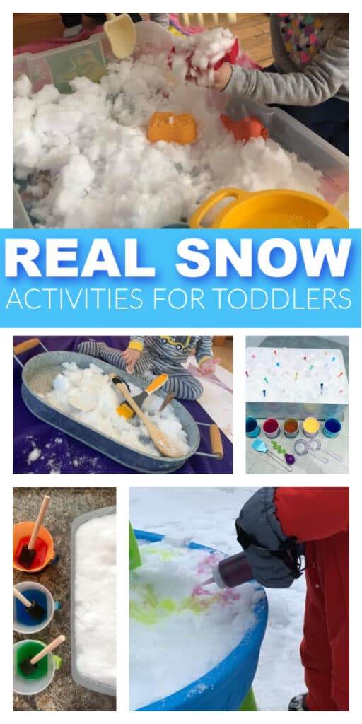 real snow activities for toddlers to play with pinterest