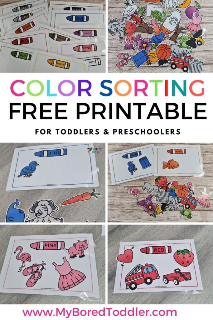 FREE PRINTABLE COLOR SORTING MATCHING TEMPLATES PINTEREST