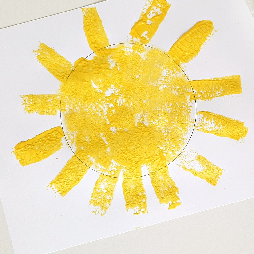 Summer Painting with Sponge Stamps