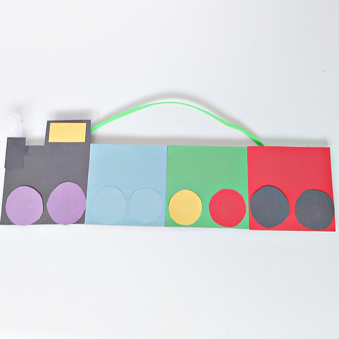 Paper Train Craft for Toddlers