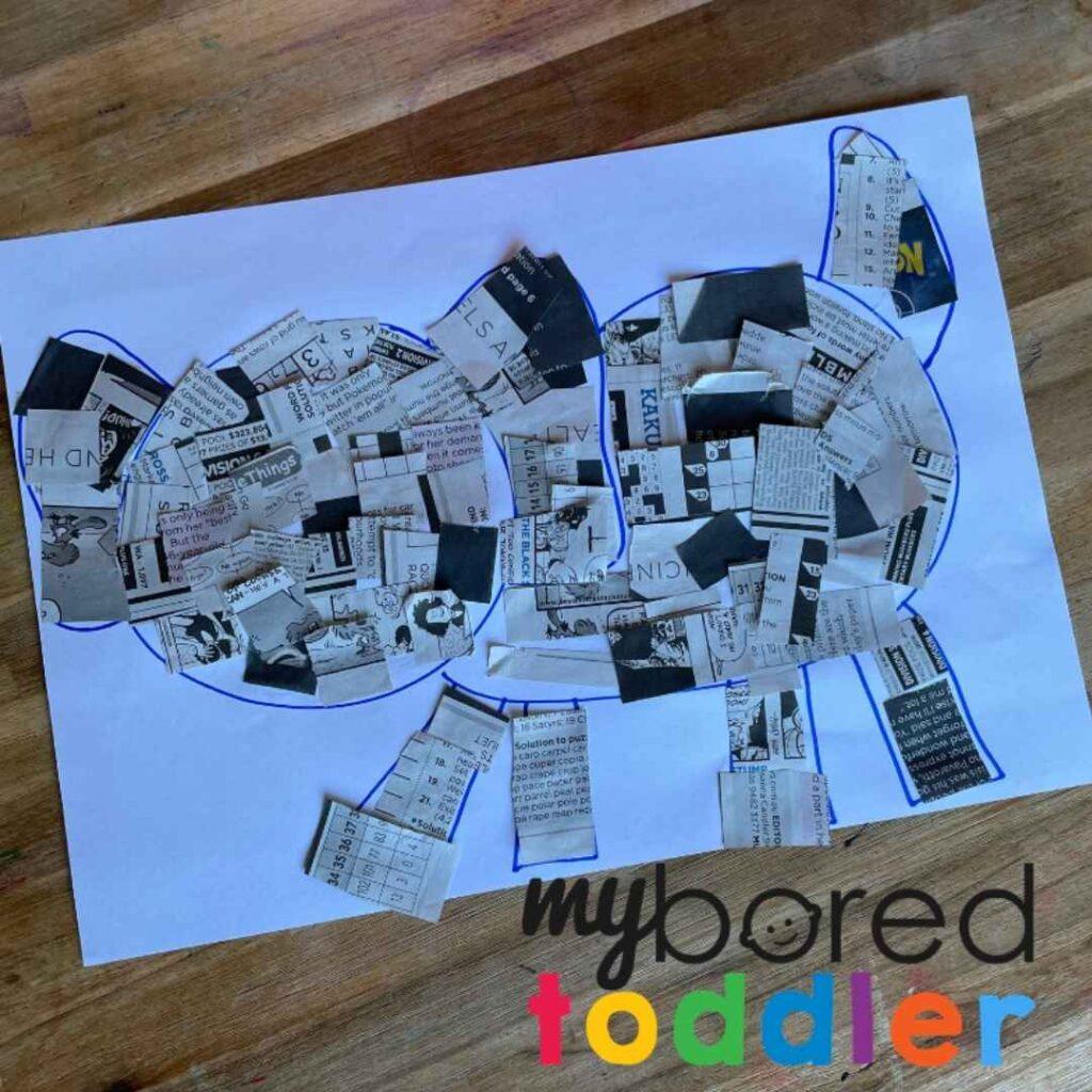 newspaper craft dog