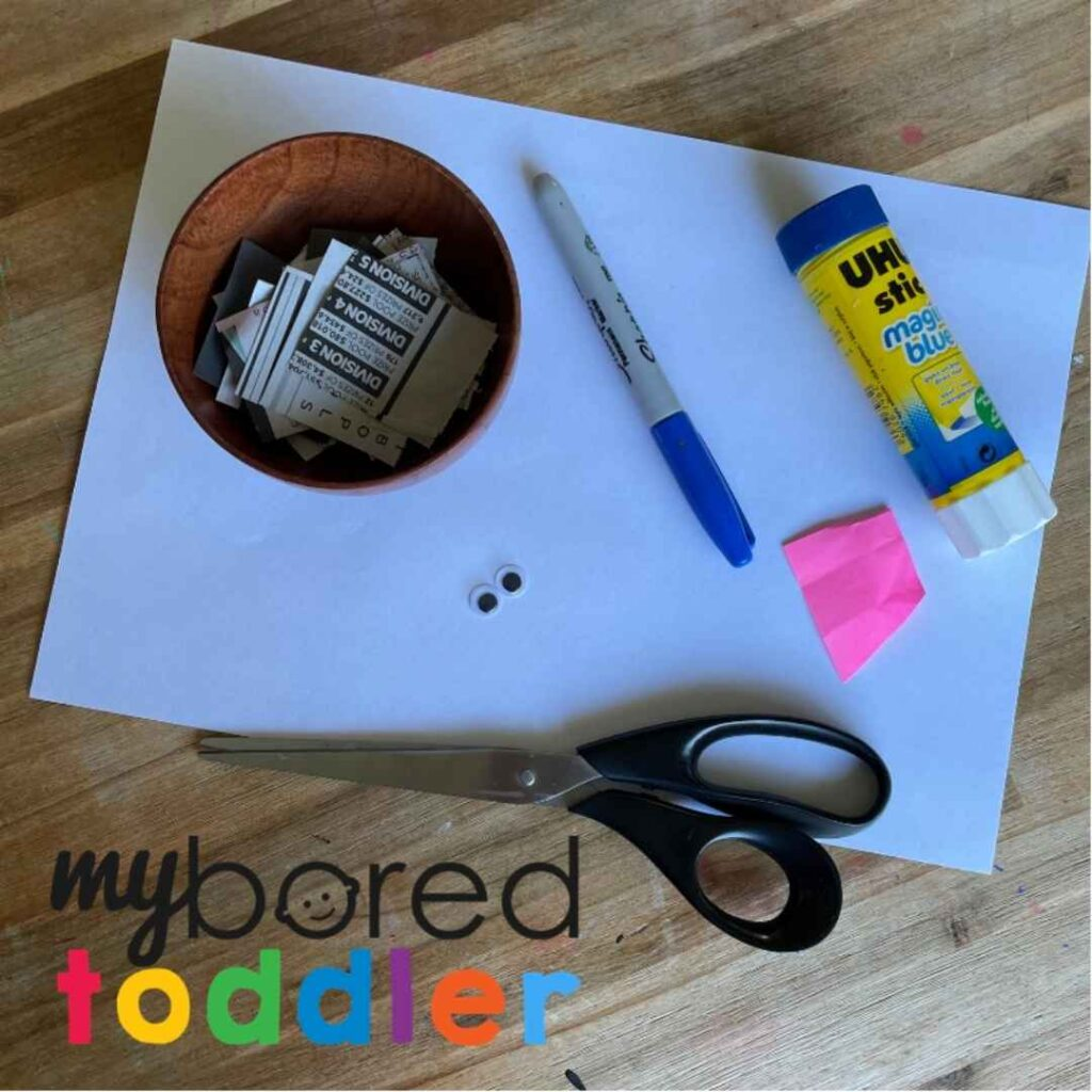 newspaper puppy craft idea for toddlers