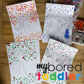 Seasons Finger Painting for Toddlers