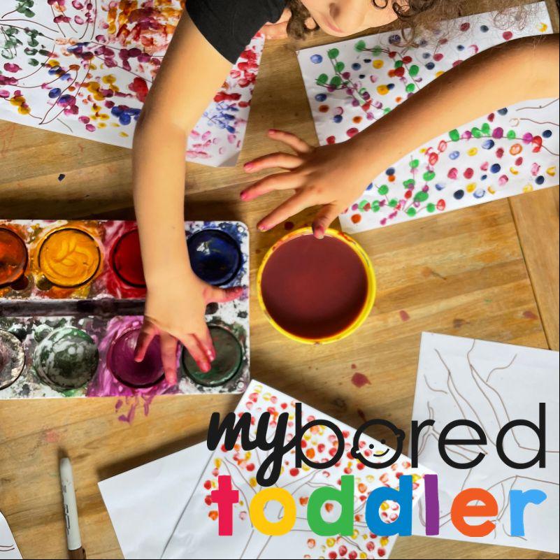 toddler finger painting fall spring summer winter